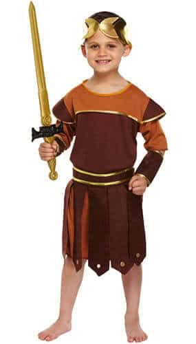 Roman Soldier Children Fancy Dress Costume 10-12 Years - Large Product Image