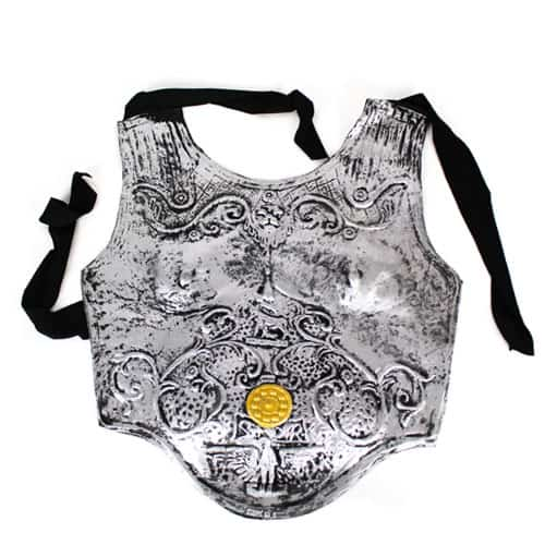 Roman Soldiers Breastplate Silver Armour Product Image