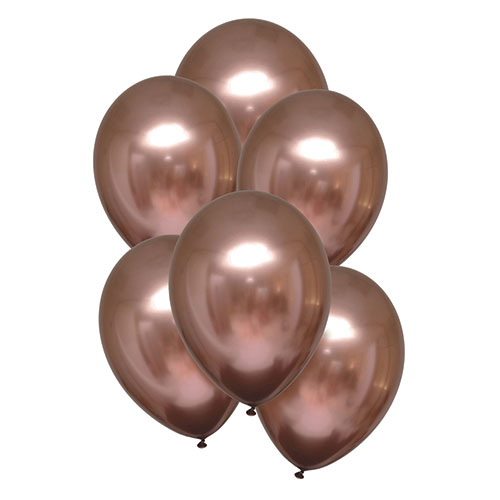 Rose Copper Satin Luxe Latex Balloons 28cm / 11 in - Pack of 6