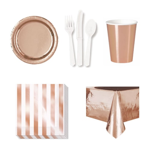 Rose Gold 54 Person Party Pack