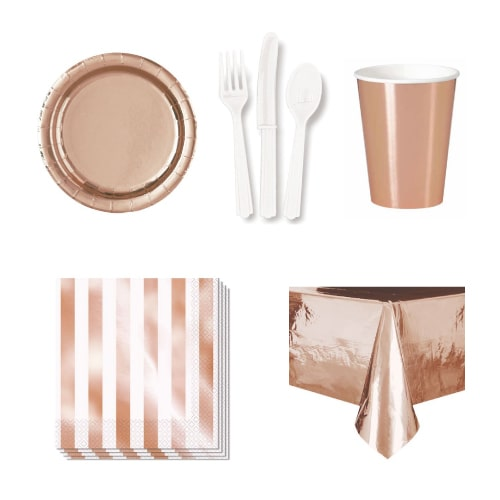 Rose Gold 90 Person Party Pack
