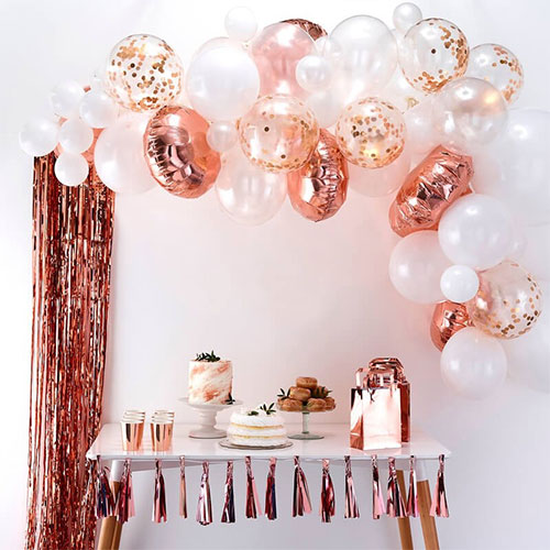 Rose Gold Balloon Arch Kit Product Image