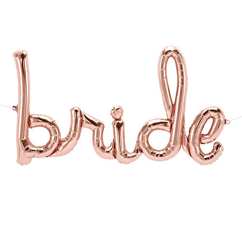 Rose Gold Bride Script Air Fill Foil Balloon 84cm / 33 Inch Product Image