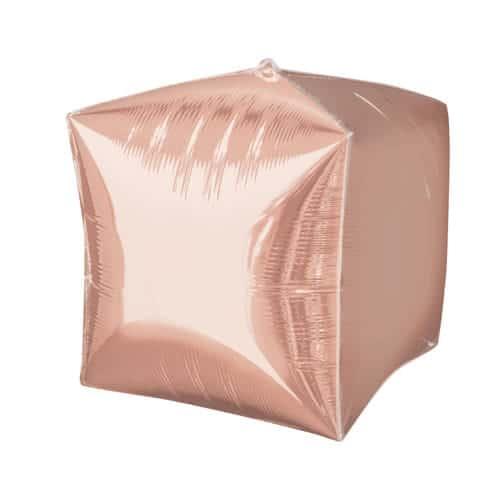 Rose Gold Cubez Foil Helium Balloon 38cm / 15Inch Product Image