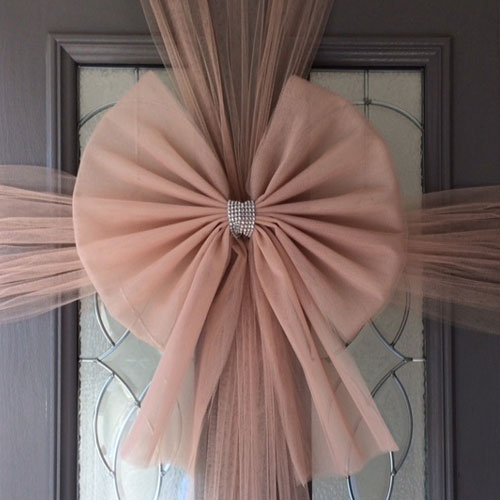 Rose Gold Door Bow Decoration Product Image