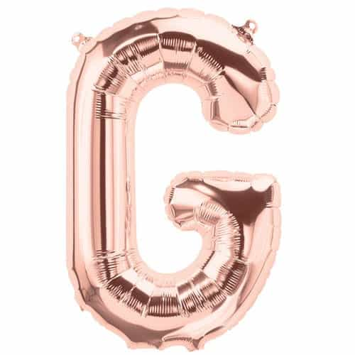 Rose Gold Letter G Air Fill Foil Balloon 34cm / 13Inch Product Image