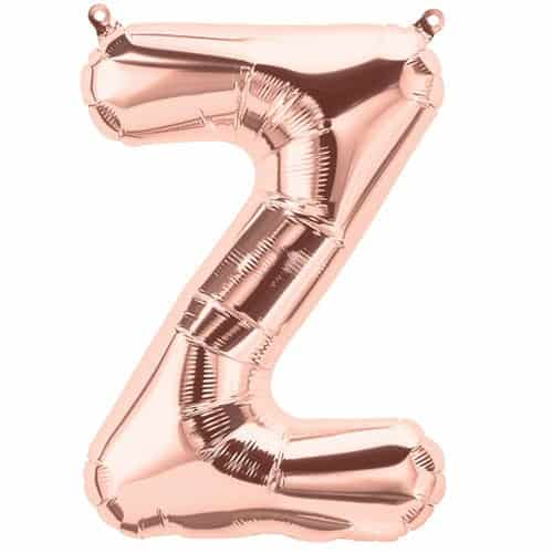 Rose Gold Letter Z Air Fill Foil Balloon 34cm / 13Inch Product Image