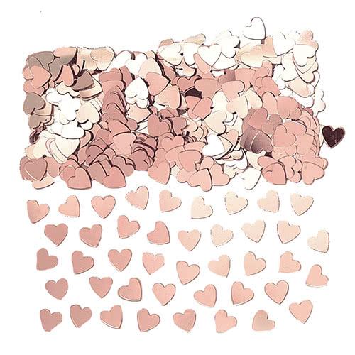 Rose Gold Small Hearts Table Confetti 14 Grams
