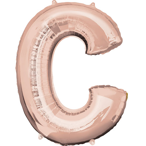 Rose Gold Letter C Air Fill Foil Balloon 40cm / 16 in Product Image