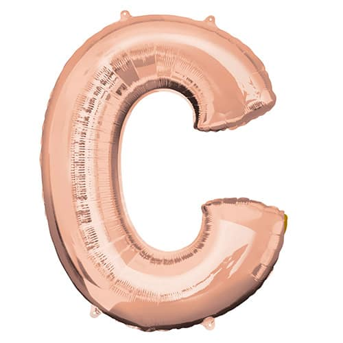 Rose Gold Letter C Helium Foil Giant Balloon 81cm / 32 in Product Image