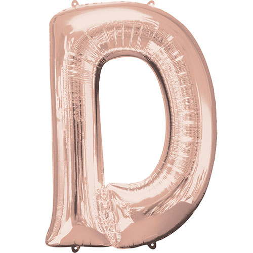 Rose Gold Letter D Air Fill Foil Balloon 40cm / 16 in