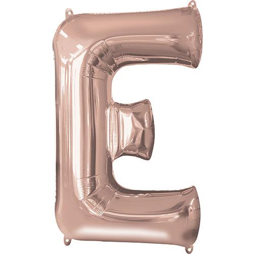 Rose Gold Letter E Air Fill Foil Balloon 40cm / 16 in