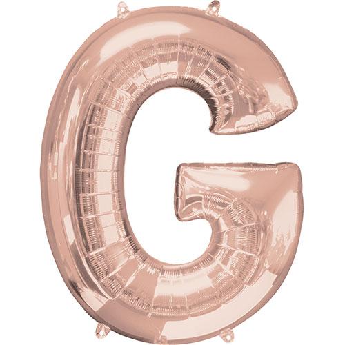 Rose Gold Letter G Air Fill Foil Balloon 40cm / 16 in