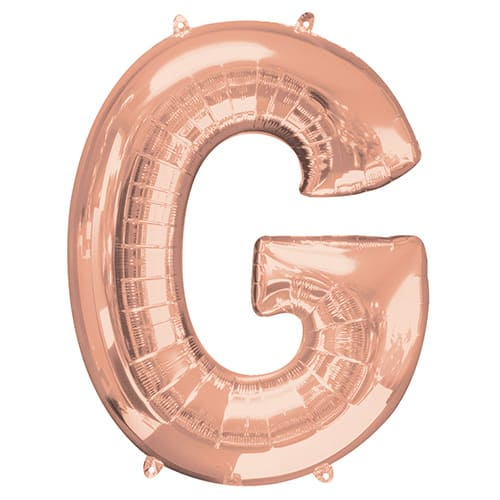 Rose Gold Letter G Helium Foil Giant Balloon 81cm / 32 in Product Image