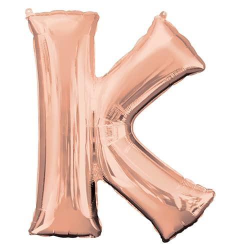Rose Gold Letter K Helium Foil Giant Balloon 83cm / 33 in Product Image