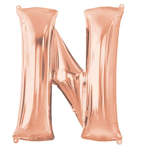 Rose Gold Letter N Helium Foil Giant Balloon 81cm / 32 in Product Image