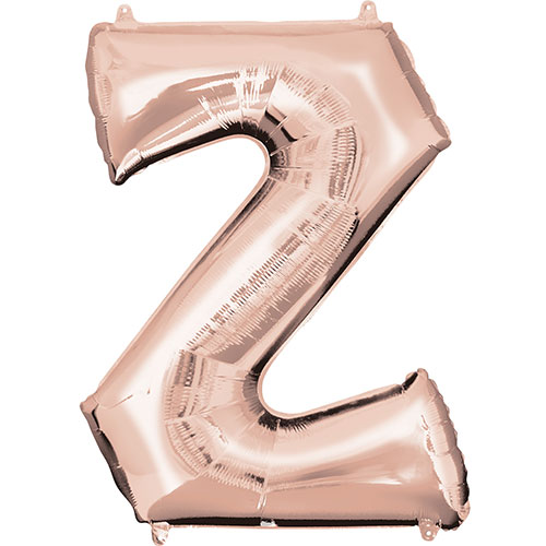 Rose Gold Letter Z Air Fill Foil Balloon 40cm / 16 in Product Image