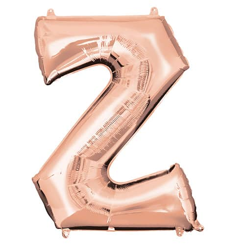Rose Gold Letter Z Helium Foil Giant Balloon 86cm / 34 in Product Image