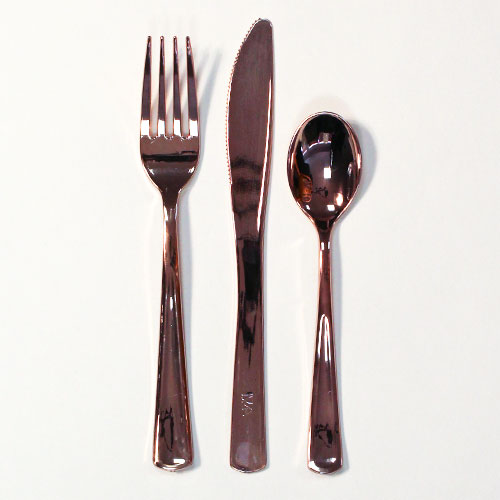 Rose Gold Premium Quality Assorted Cutlery - Pack of 32