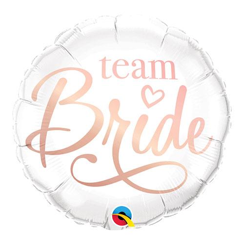 Rose Gold Team Bride Round Qualatex Foil Helium Balloon 46cm / 18 Inch
