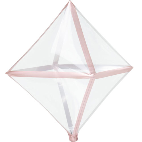 Rose Gold Trim Clear Anglez Foil Helium Balloon 63cm / 25 in Product Image