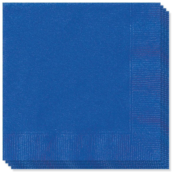 Royal Blue 2 Ply Napkins - 13 Inches / 33cm - Pack of 100