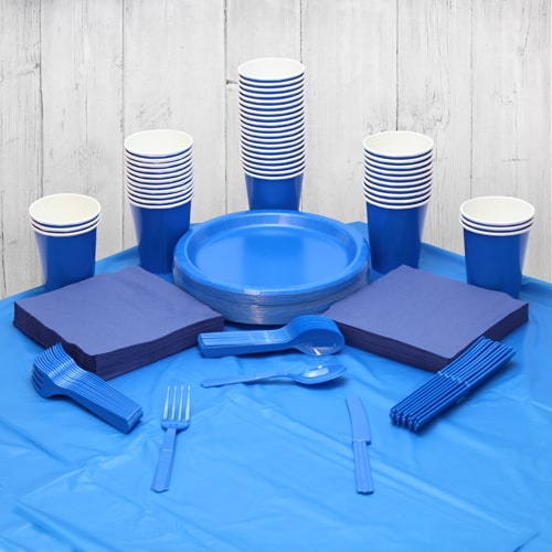 Royal Blue 54 Person Party Pack