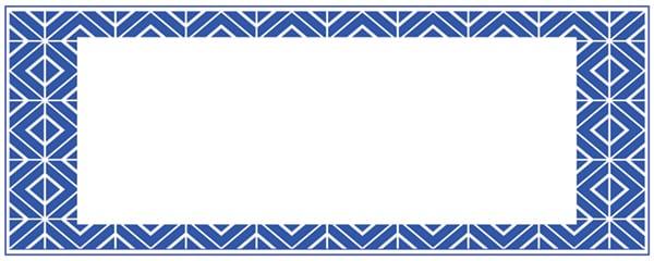 Royal Blue Diamonds Design Medium Personalised Banner - 6ft x 2.25ft