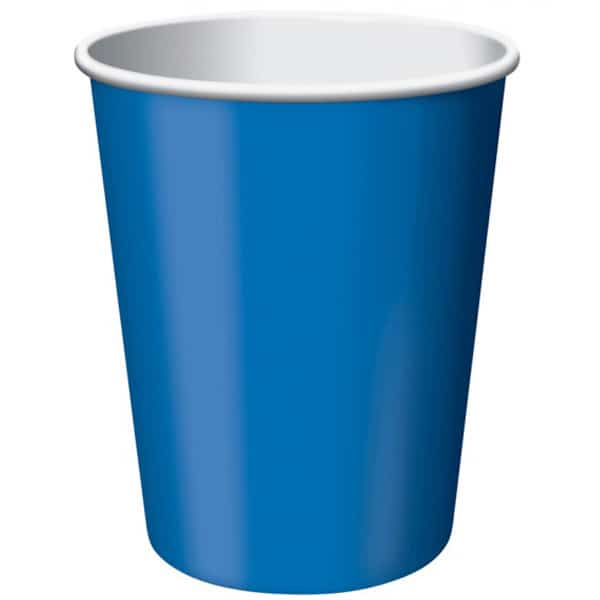 Royal Blue Paper Cups 270ml - Pack of 14 Product Image