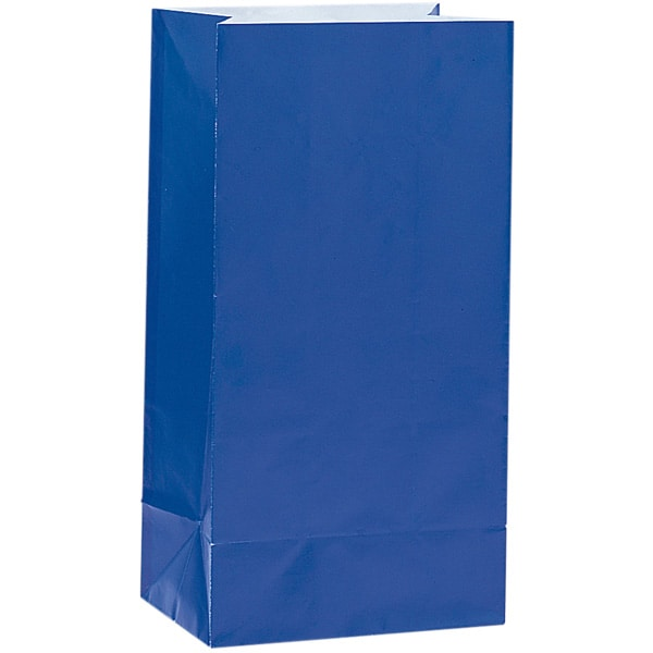 Royal Blue Paper Party Bag - Pack of 12 Product Image