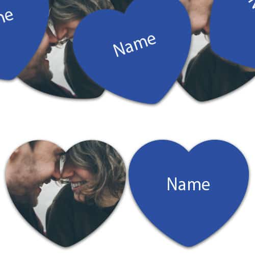 HEART Shape - Royal-Blue Personalised Confetti - Pack of 50 Product Image