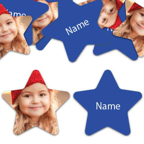 STAR Shape - Royal-Blue Personalised Confetti - Pack of 100 Product Image