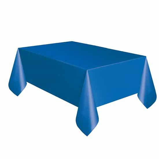 Royal Blue Plastic Tablecover 274cm x 137cm Bundle Product Image