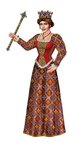 Royal Queen Jointed Decorative Cutout - 36 Inches / 91cm Product Image