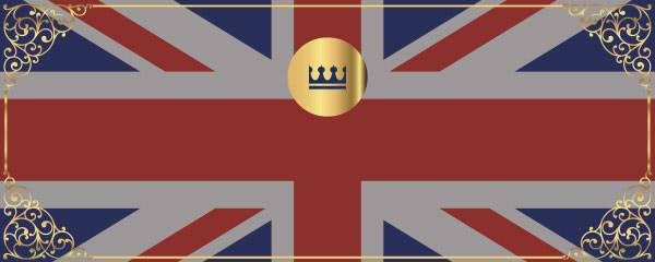 Union Jack Ornamental Design Small Personalised Banner - 4ft x 2ft