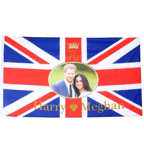 Union Jack Royal Wedding Prince Harry And Meghan Markle Flag - 5 x 3 Ft Product Image