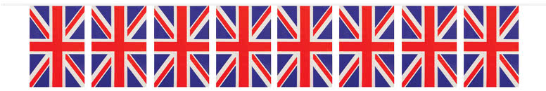 Union Jack Plastic Flag Bunting 10m