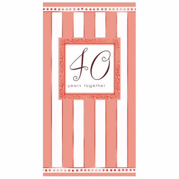 Ruby Anniversary Invitation Cards with Envelopes - Pack of 8 Product Image
