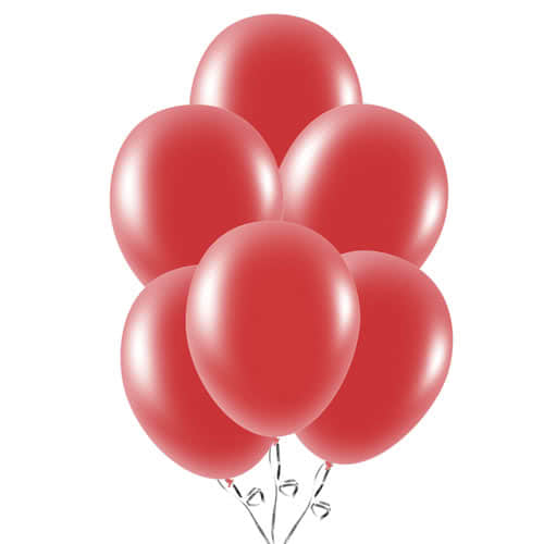 Ruby Red Latex Balloons 23cm / 9Inch - Pack of 30 Product Image