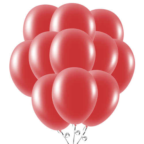 Ruby Red Latex Balloons 23cm / 9Inch - Pack of 50 Product Image