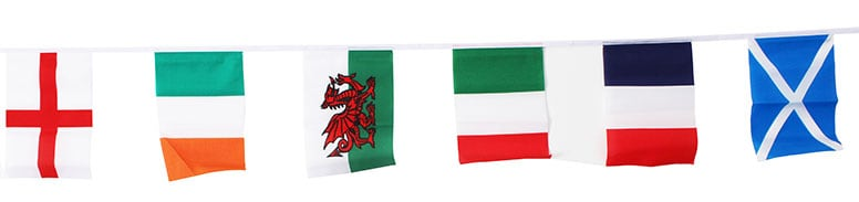 Rugby Bunting With 18 Flags 5.5m Product Image