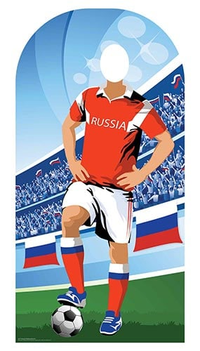 Russia Football Stand-In Cardboard Cutout 190cm Product Image