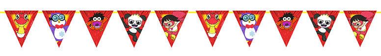 Ryan's World Paper Pennant Bunting 300cm Bundle Product Image