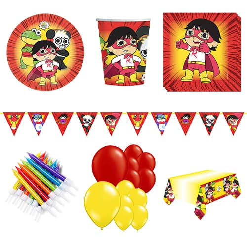 Ryan's World 16 Person Deluxe Party Pack Product Image