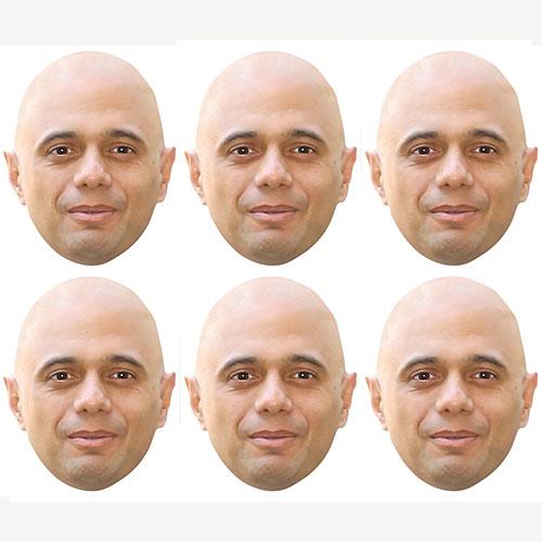 Sajid Javid Cardboard Face Masks - Pack of 6 Product Image