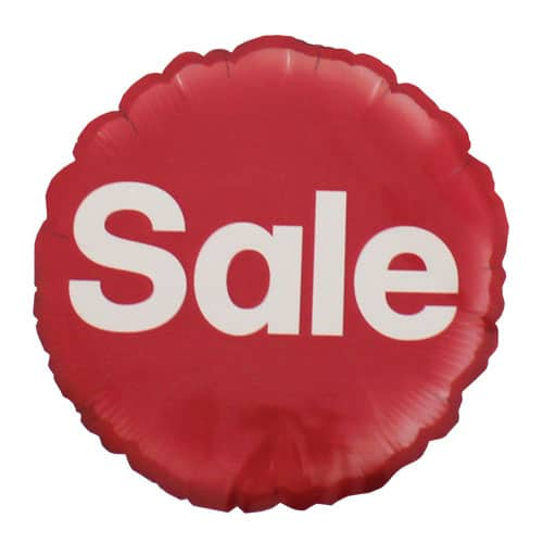 Sale Round Foil Helium Balloon 46cm / 18Inch Product Image
