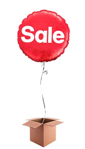 Sale Round Foil Balloon - Inflated Balloon in a Box Product Image