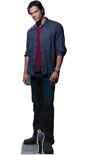 Sam Winchester Red Shirt Jared Padalecki Supernatural Lifesize Cardboard Cutout 195cm Product Image