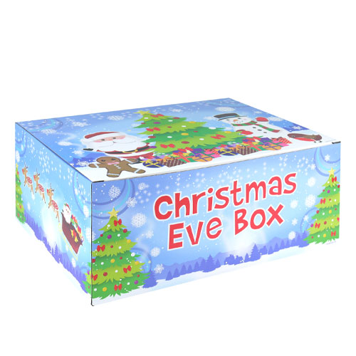 Santa & Reindeers Christmas Eve Box 35cm Product Image