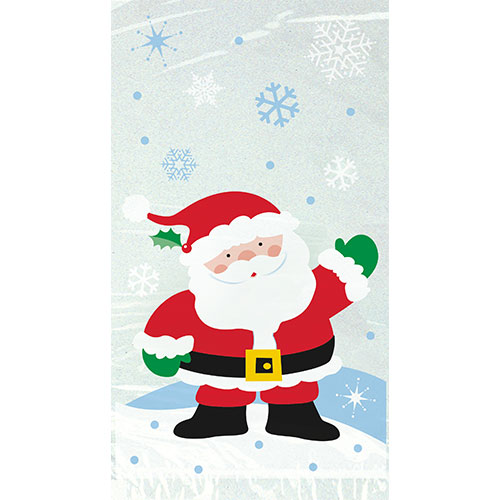 Santa Cello Bags With Twist Ties - Pack of 20